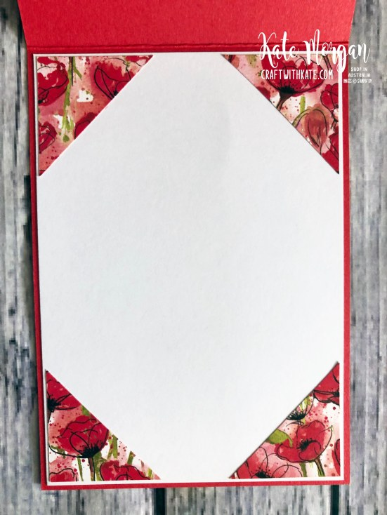 Peaceful Poppies Suite Stampin Up Mini 2020 by Kate Morgan, Australia. inside