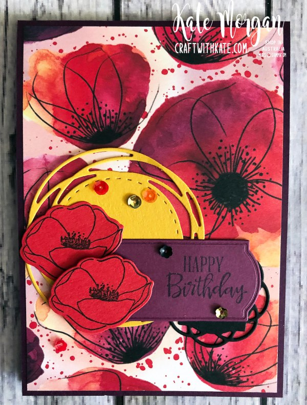 Peaceful Poppies Suite Stampin Up Mini 2020 by Kate Morgan Australia