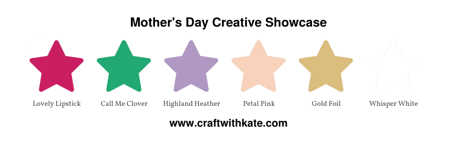 Mother's Day Creative Showcase colour combination