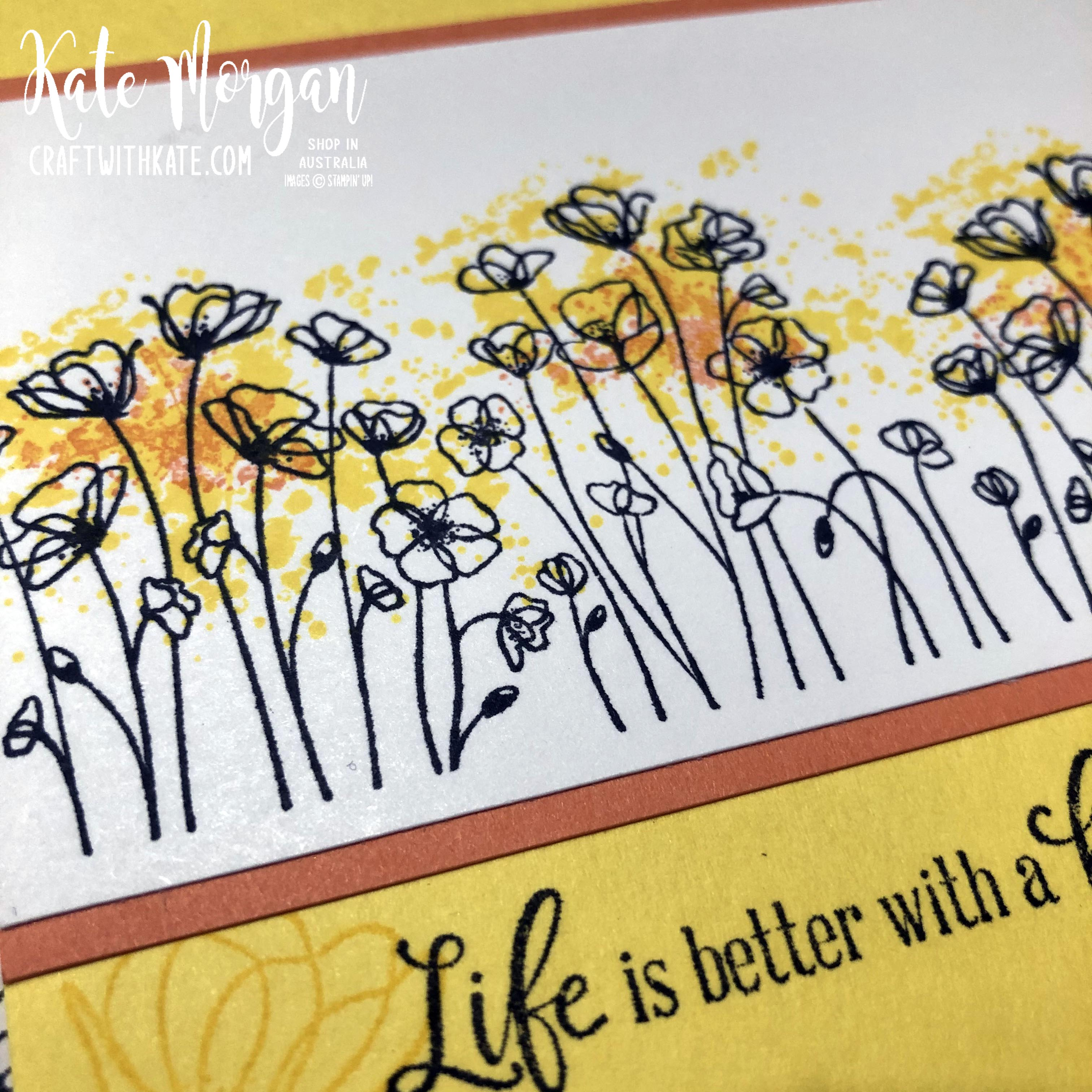 Peaceful Poppies cards by Kate Morgan, Stampin Up Australia 2020.