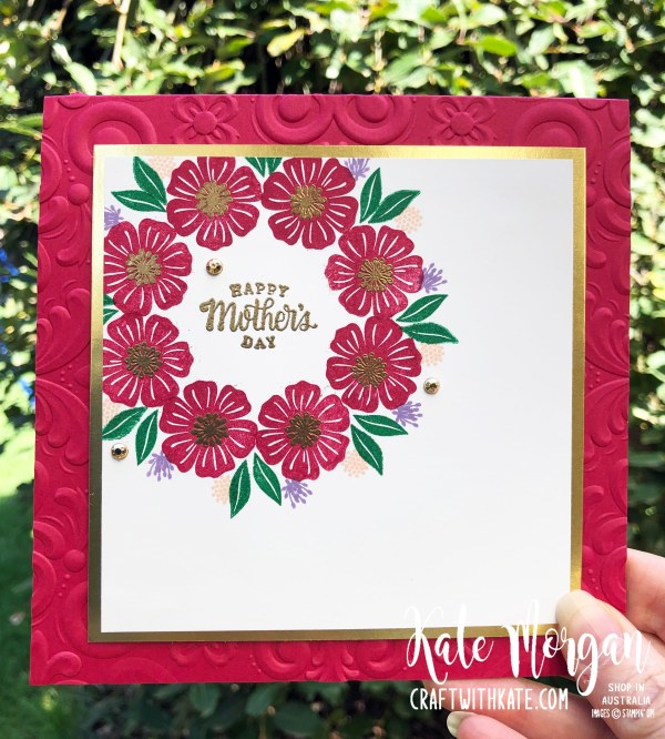 Stamp in the Round Design using Stampin Up Beautiful Bouquet by Kate Morgan Australia 2020