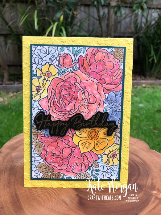 Breathtaking Bouquet & Pigment Sprinkles to Water colour by Kate Morgan Stampin Up Australia 2020 Mini - Copy