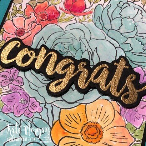 Breathtaking Bouquet & Pigment Sprinkles to Water colour by Kate Morgan Stampin Up Australia 2020 Mini..