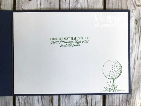 Feminine Golf card 3 using Stampin Up Country Club Suite by Kate Morgan, Australia 2020