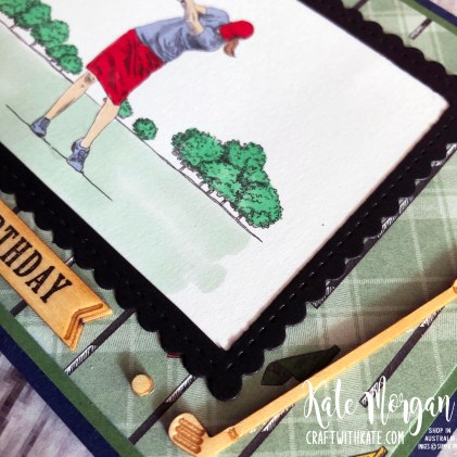 Feminine Golf card 3 using Stampin Up Country Club Suite by Kate Morgan Australia 2020.