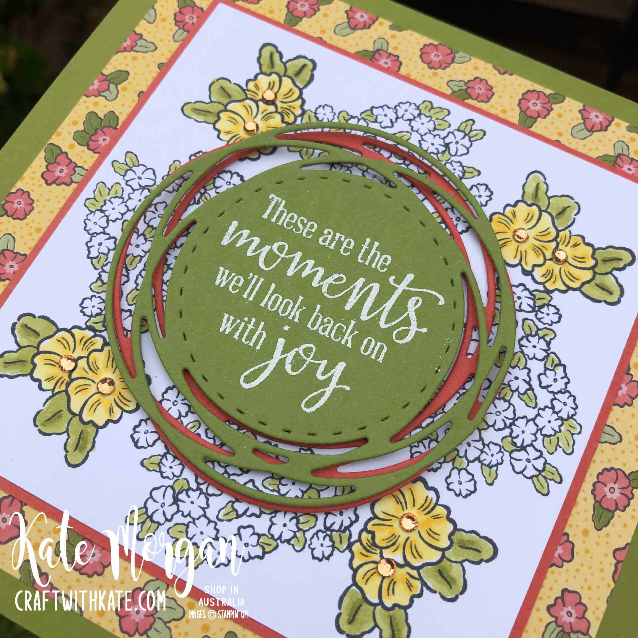 Ornate Style Stamp In the Round design by Kate Morgan Stampin Up Australia 2020.