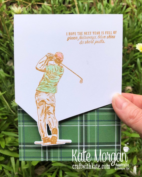 Partial Die cutting technique using Stampin Up Country Golf Club 2020 Mini by Kate Morgan, Australia