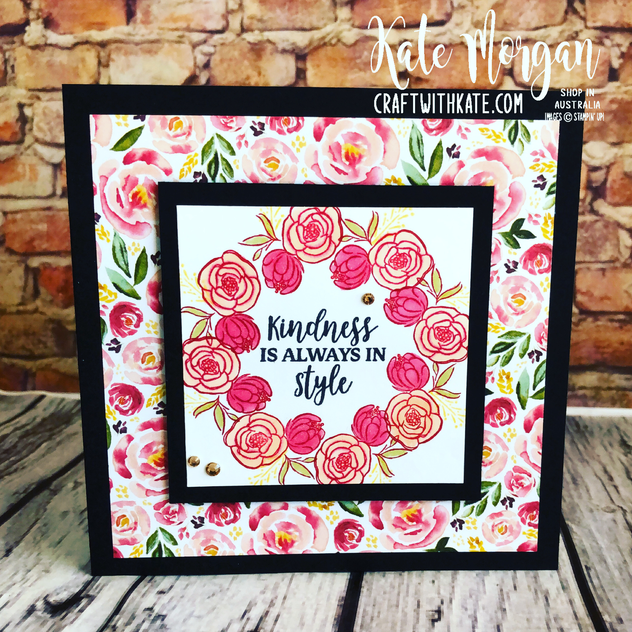 Stamp in the Round Design using Stampin Up Best Dressed Suite by Kate Morgan Australia 2020