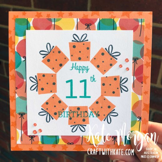 Stamp in the Round Design using Stampin Up Family Party by Kate Morgan Australia 2020