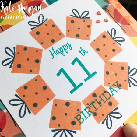 Stamp in the Round Design using Stampin Up Family Party by Kate Morgan, Australia 2020