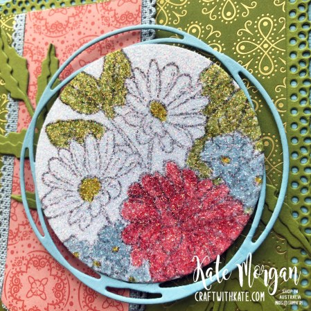 Trifold card using Stampin Up Ornate Garden & Peaceful Poppies Suites by Kate Morgan Australia 2020.