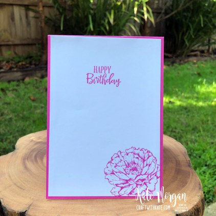 60th Feminine birthday card using Prized Peony Magenta Madness by Kate Morgan Stampin Up Australia 2020
