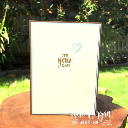 A Good Man masculine card by Kate Morgan, Stampin Up Australia 2020 inside