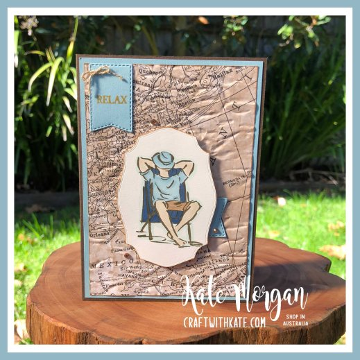 A Good Man masculine card by Kate Morgan, Stampin Up Australia 2020