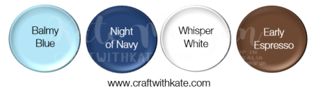 Balmy Blue Night of Navy Whisper White Early Epresso