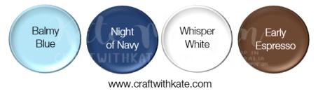 Balmy Blue Night of Navy Whisper White Early Epresso