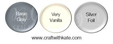 Basic Gray Very Vanilla Silver Foil