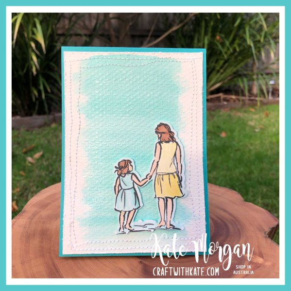 Beautiful Moments watercolour wash background fancy fold pop up card by Kate Morgan Stampin Up Australia 2020