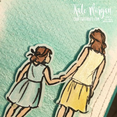 Beautiful Moments watercolour wash background fancy fold pop up card by Kate Morgan, Stampin Up Australia 2020