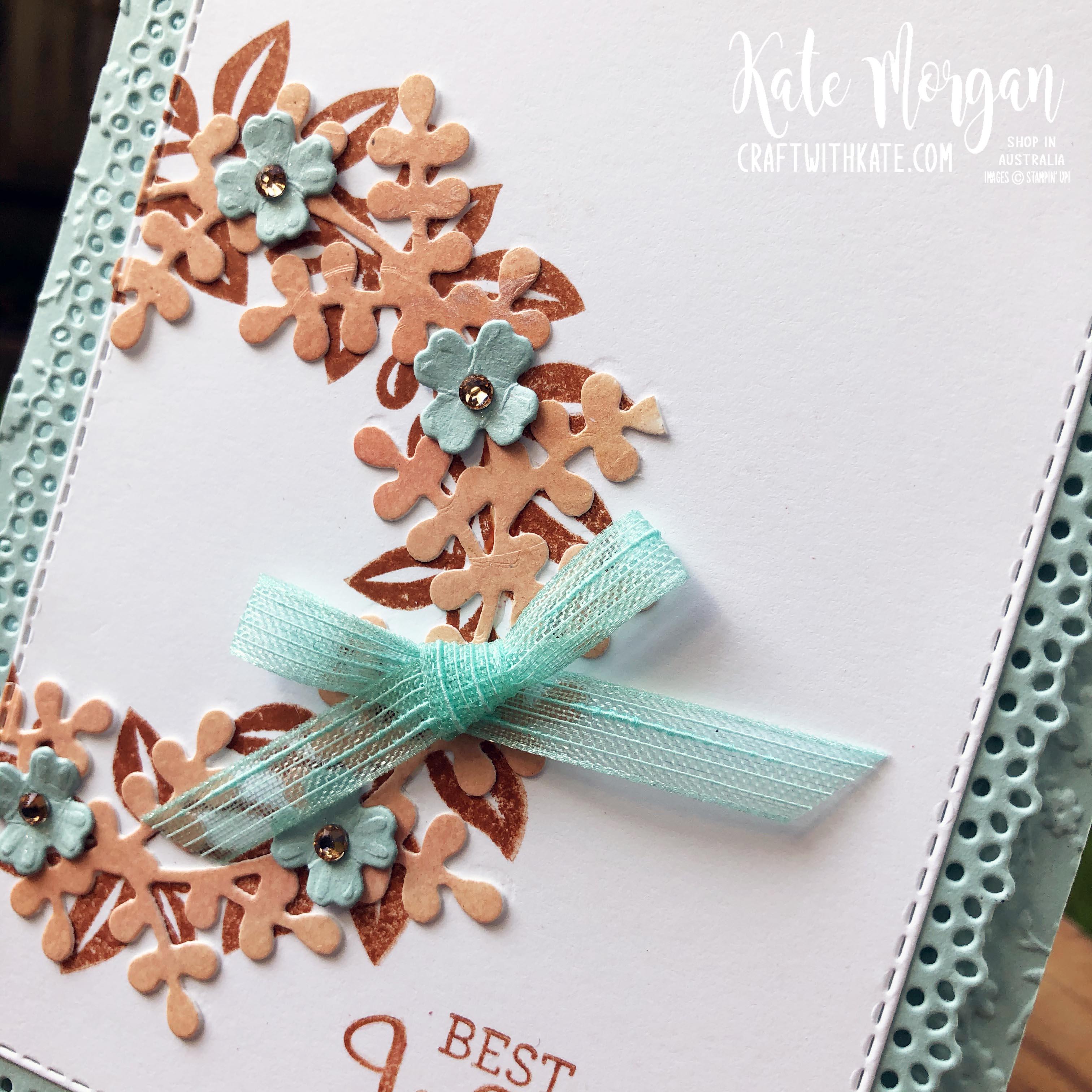 Arrange a Wreath Bundle for Crajun Craze Colour Creations Showcase by Kate Morgan, Stampin Up Australia 2020 closeup