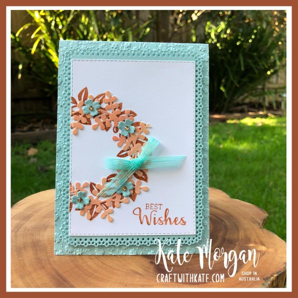 Arrange a Wreath Bundle for Crajun Craze Colour Creations Showcase by Kate Morgan, Stampin Up Australia 2020