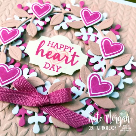 Arrange a Wreath Feminine Handmade Birthday Card by Kate Morgan, Stampin Up Australia 2020 closeup