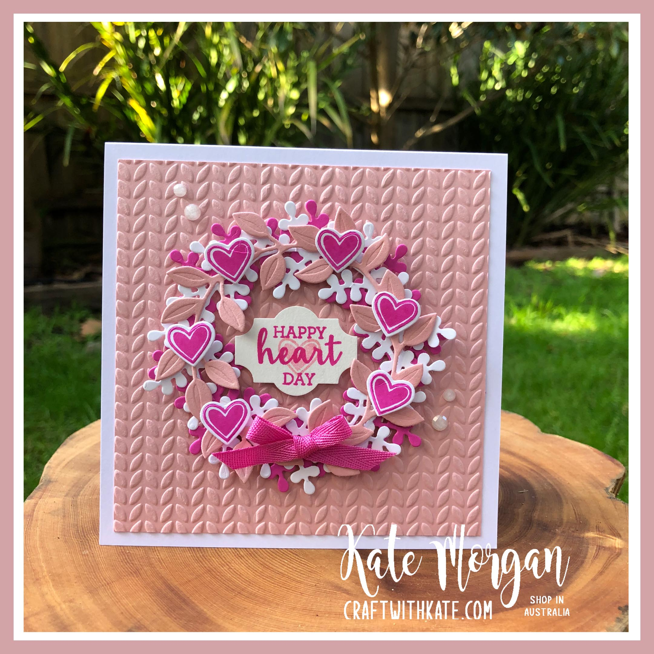 Arrange a Wreath Feminine Handmade Birthday Card by Kate Morgan, Stampin Up Australia 2020