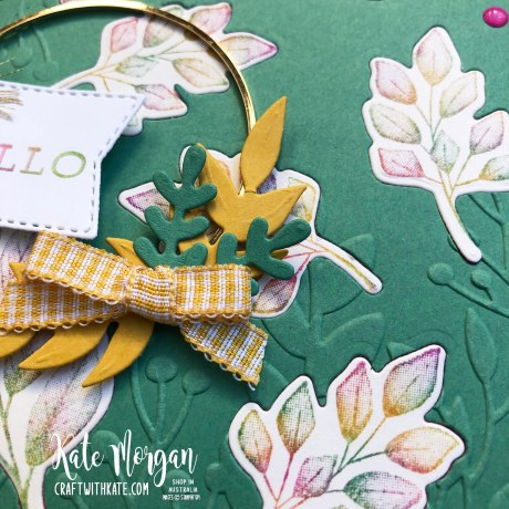 Baby wipe technique with Forever Fern bundle by Kate Morgan, Stampin Up Australia 2020 3.