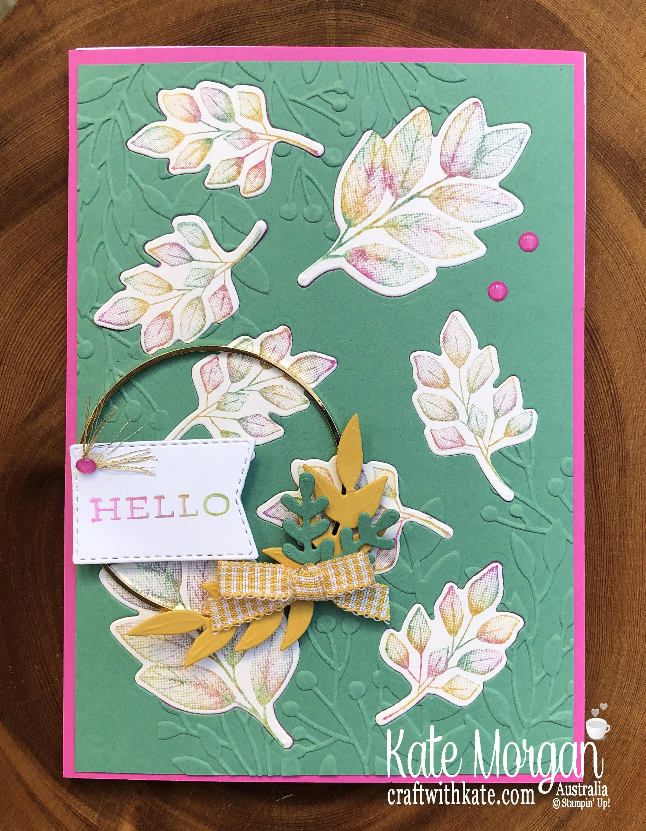 Baby wipe technique with Forever Fern bundle by Kate Morgan, Stampin Up Australia 2020 3