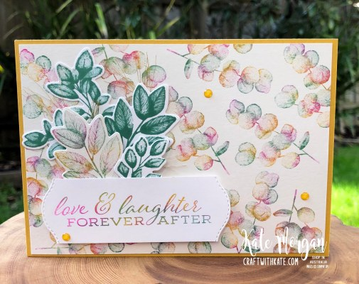Baby wipe technique with Forever Fern bundle by Kate Morgan, Stampin Up Australia 2020...