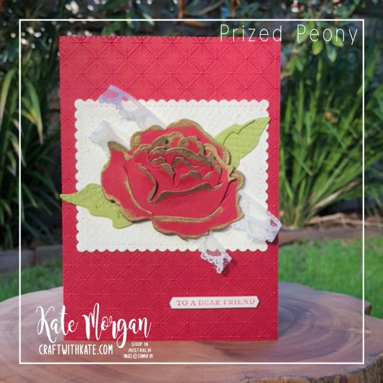 CCS Cherry Cobbler, Prized Peony Bundle Stampin Up by Kate Morgan, Australia 2020