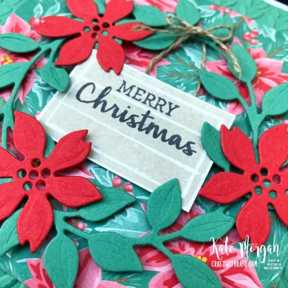Christmas card using Arrange a Wreath in Just Jade by Kate Morgan Stampin Up Australia 2020..