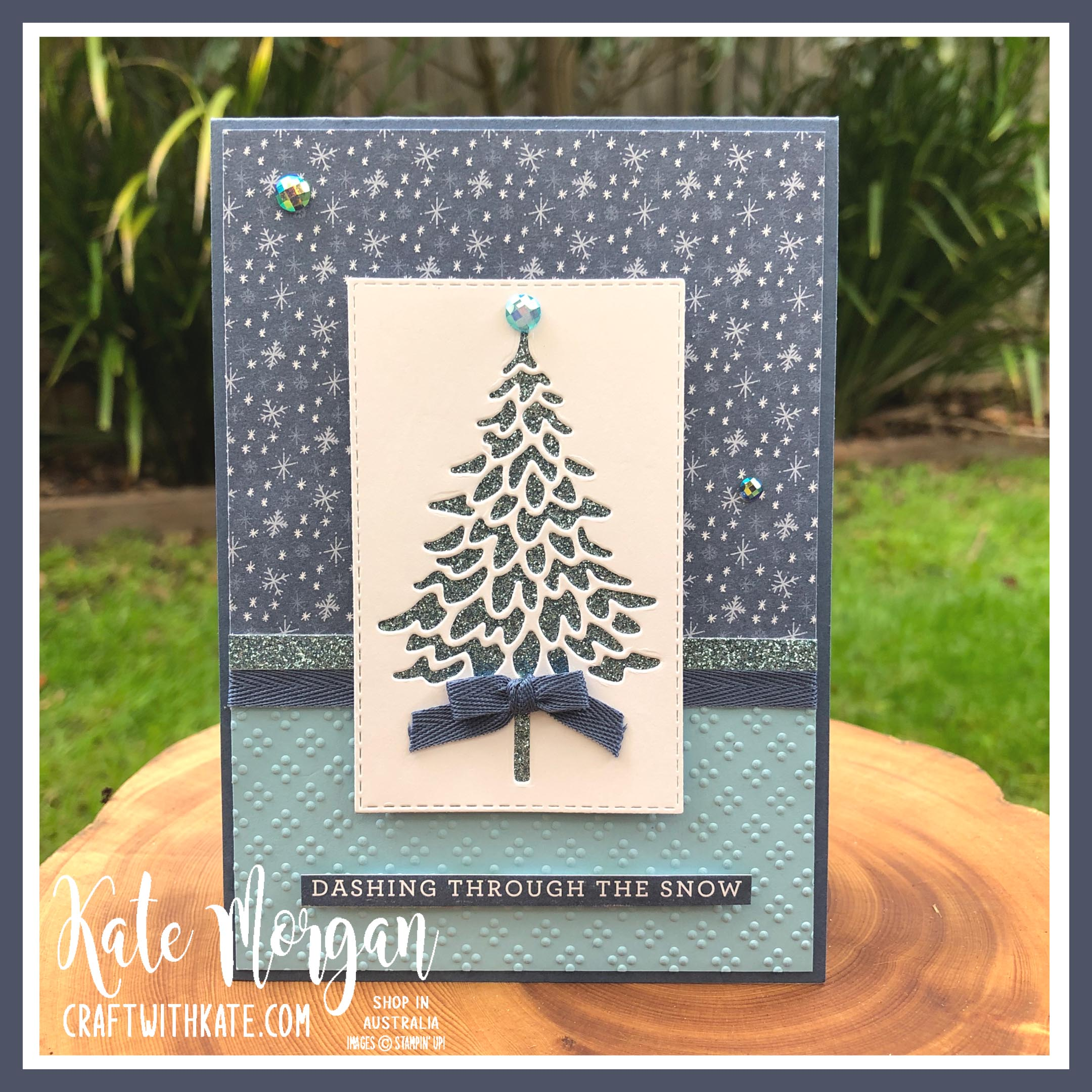 In the Pines & Trimming the Town DSP Stampin Up by Kate Morgan Australia 2020.