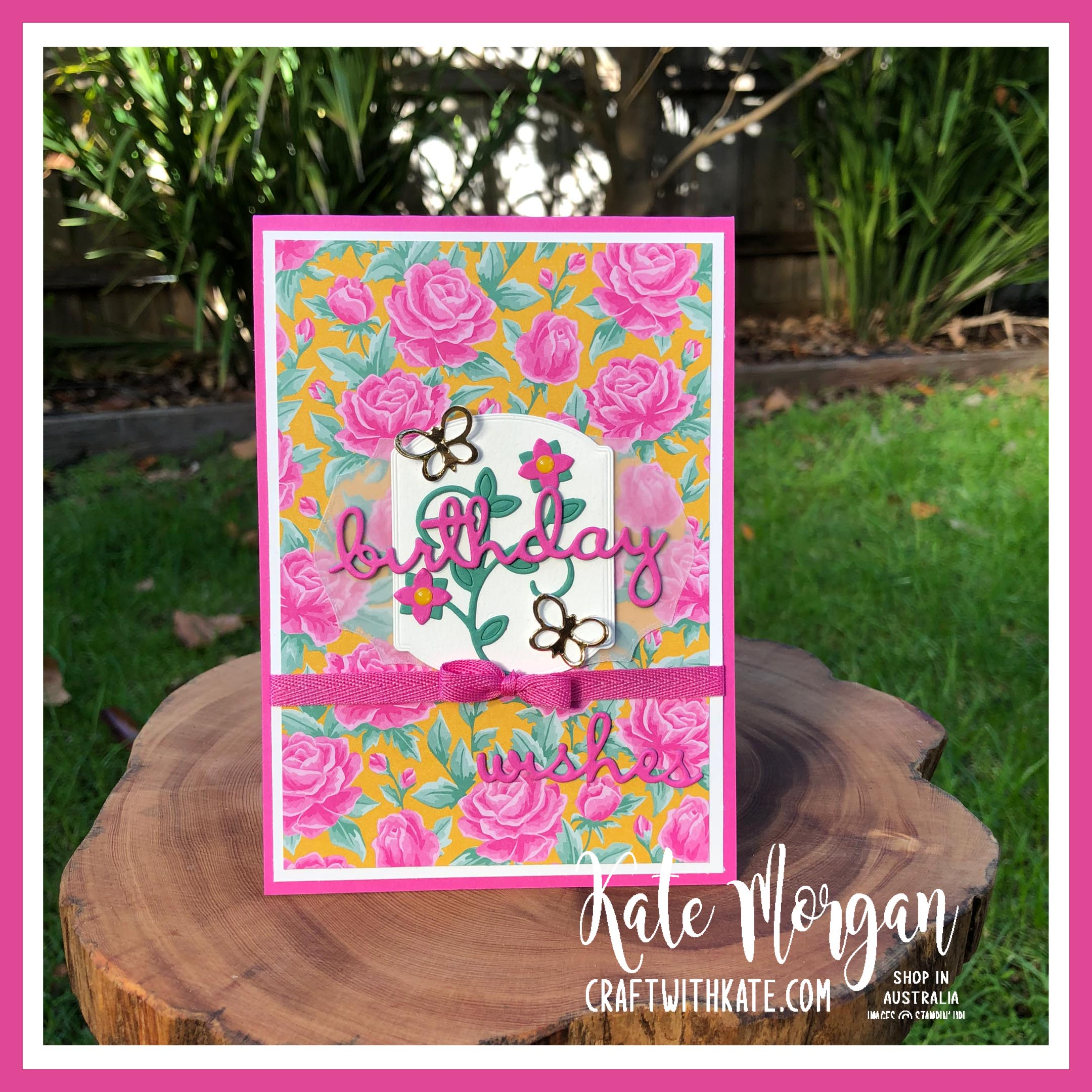 Magenta Madness Feminine Handmade card by Kate Morgan, Stampin Up Australia 2020