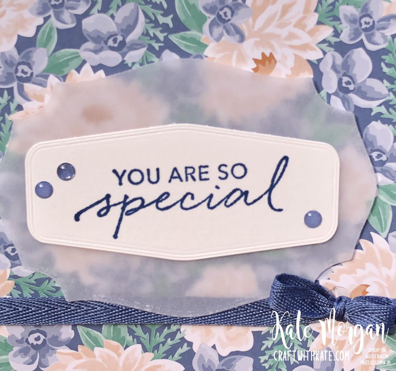 Misty Moonlight & Flowers for Every Season DSP by Kate Morgan, Stampin Up Australia 2020 closeup