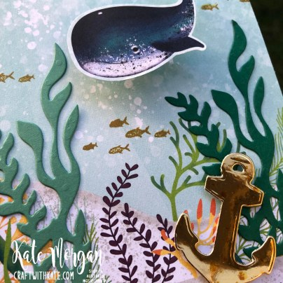 Whale Wobble card by Kate Morgan, Stampin Up Australia 2020 closeup