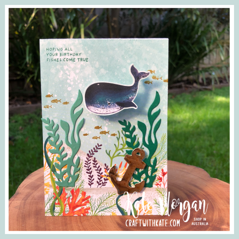 Whale Wobble card by Kate Morgan, Stampin Up Australia 2020