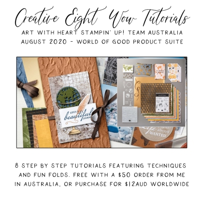 August 2020 Creative Eight Wow Tutorials by the AWHT