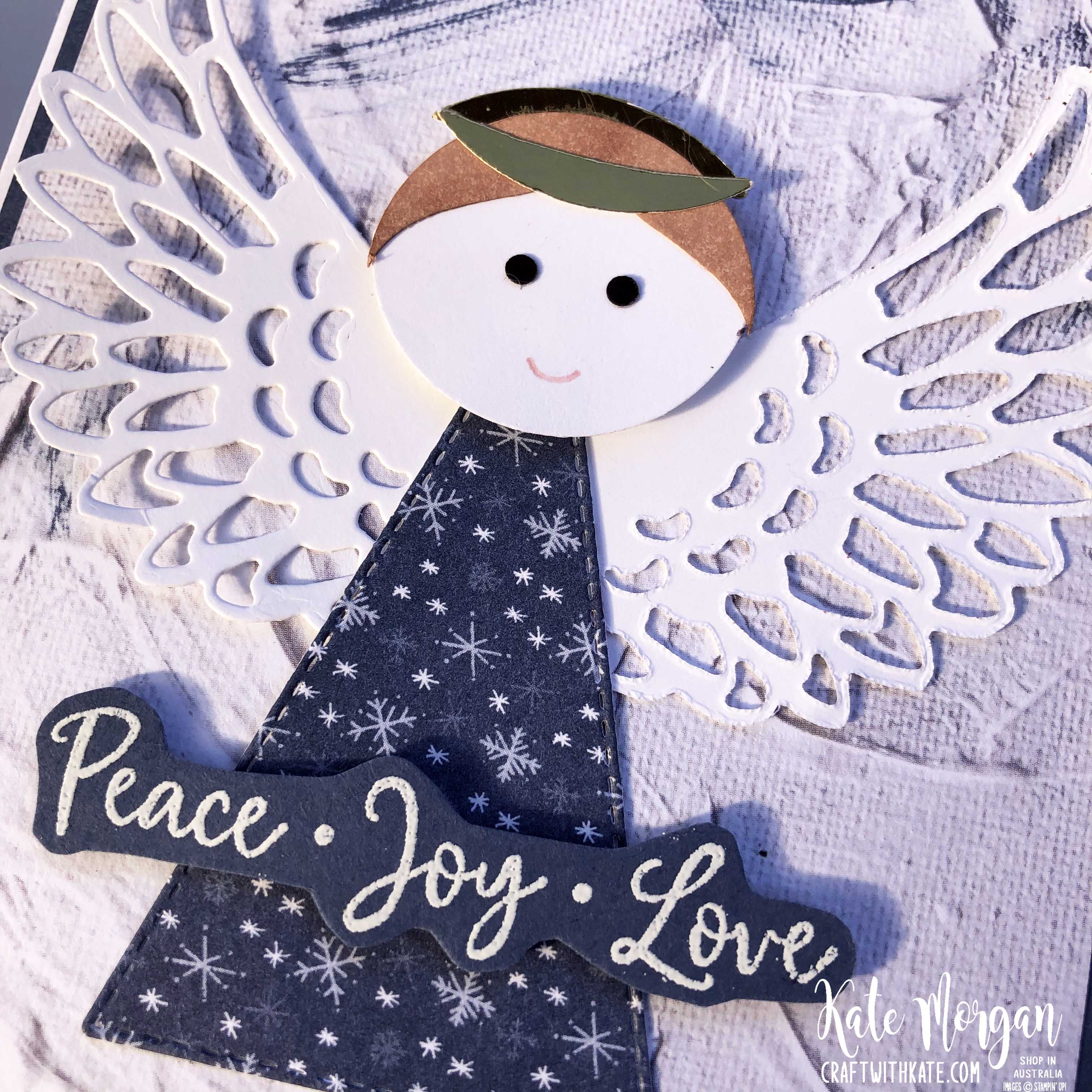 Christmas Angel by Kate Morgan Stampin Up Australia 2020 Aug-Dec Mini catalogue Dove of Hope c