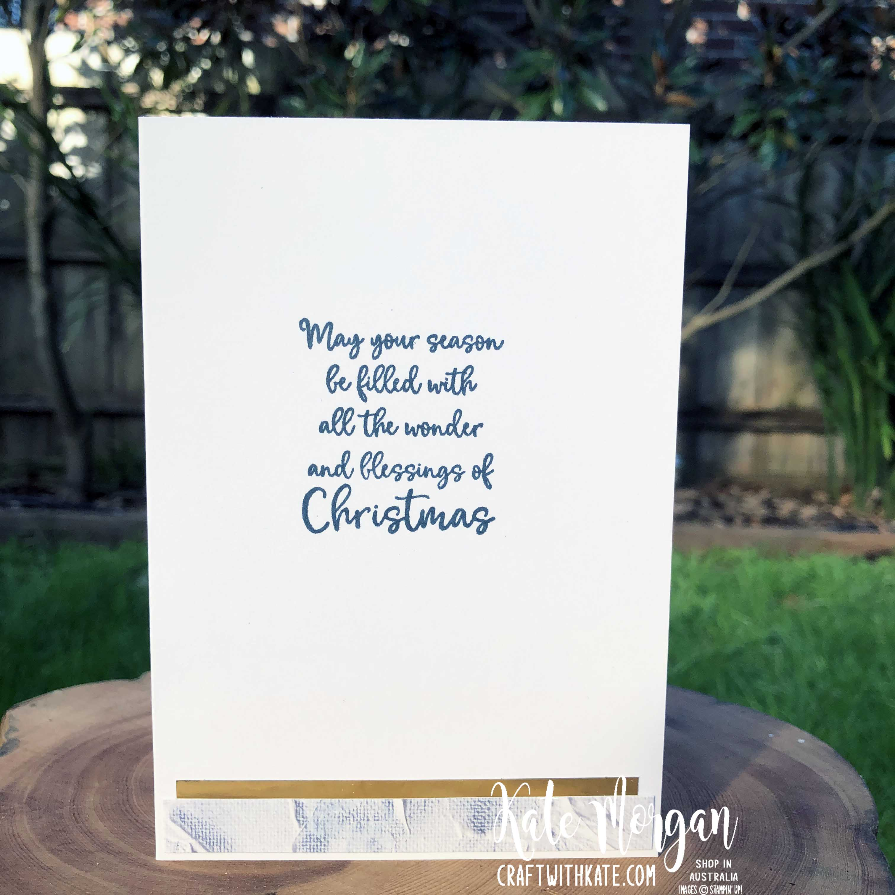 Christmas Angel by Kate Morgan Stampin Up Australia 2020 Aug-Dec Mini catalogue Dove of Hope inside