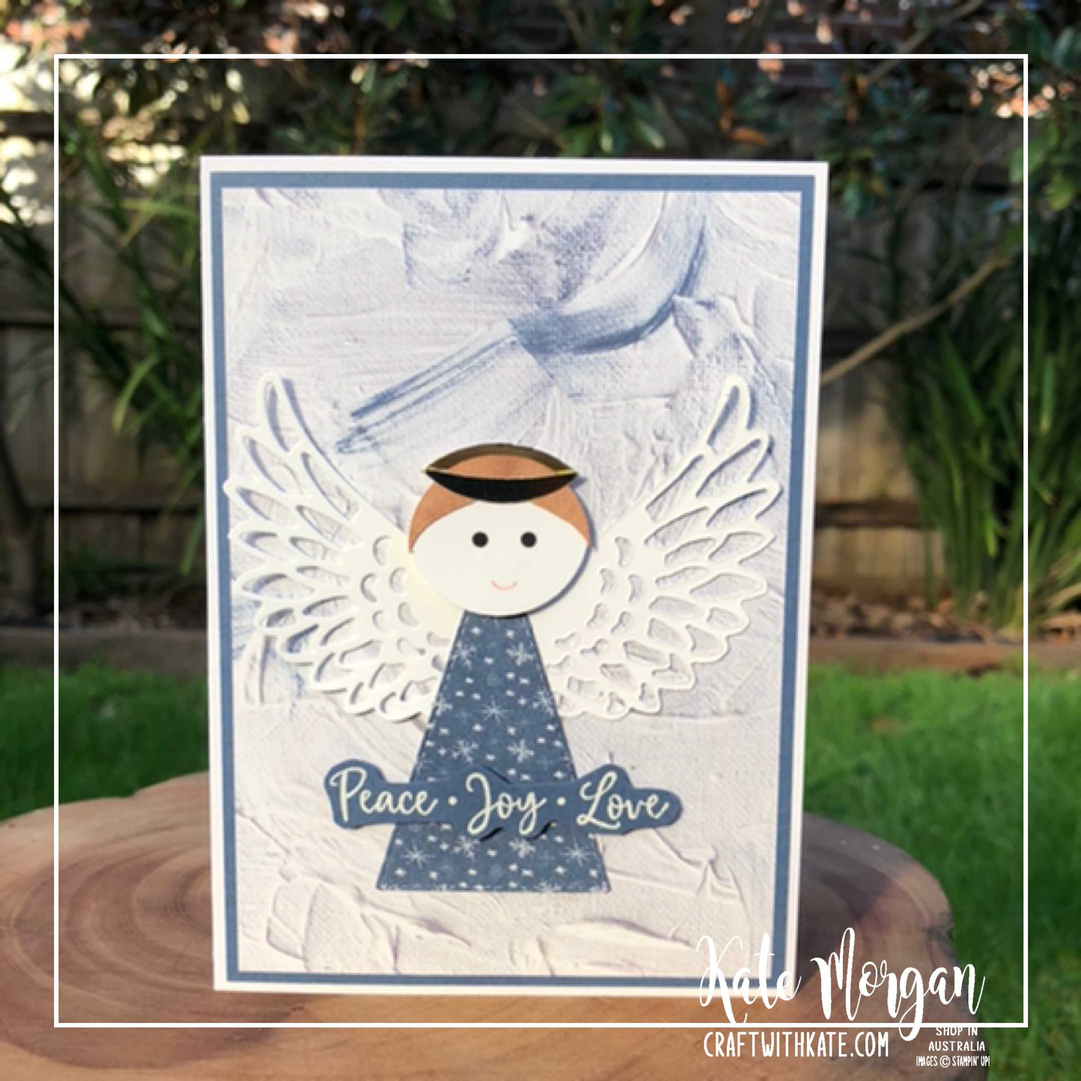 Christmas Angel by Kate Morgan Stampin Up Australia 2020 Aug-Dec Mini catalogue Dove of Hope