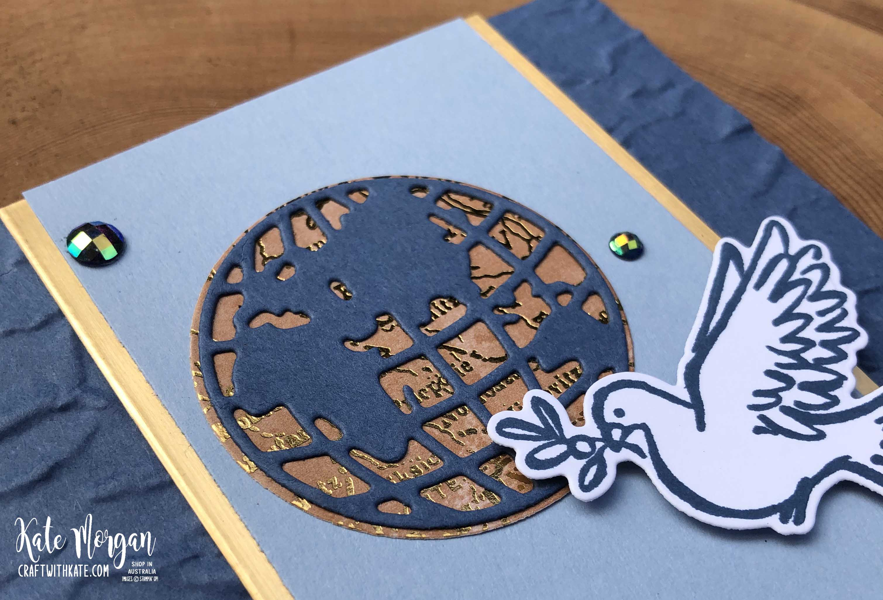 Dove of Hope & World Map by Kate Morgan Stampin Up Australia 2020 f