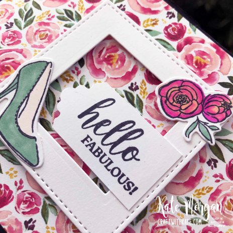 Dressed to Impress Fancy Fold card by Kate Morgan, Stampin Up Australia 2020 close