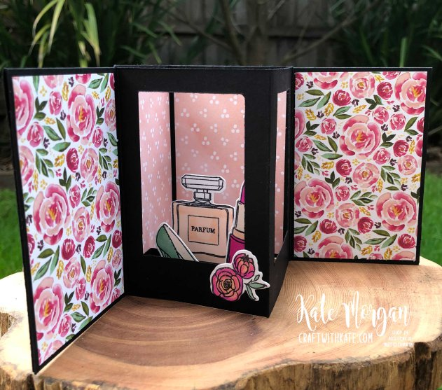Dressed to Impress Fancy Fold card by Kate Morgan, Stampin Up Australia 2020.