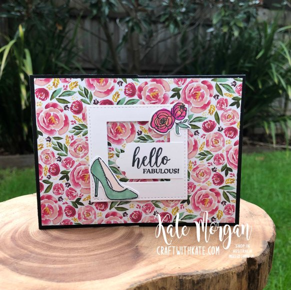 Dressed to Impress Fancy Fold card by Kate Morgan, Stampin Up Australia 2020