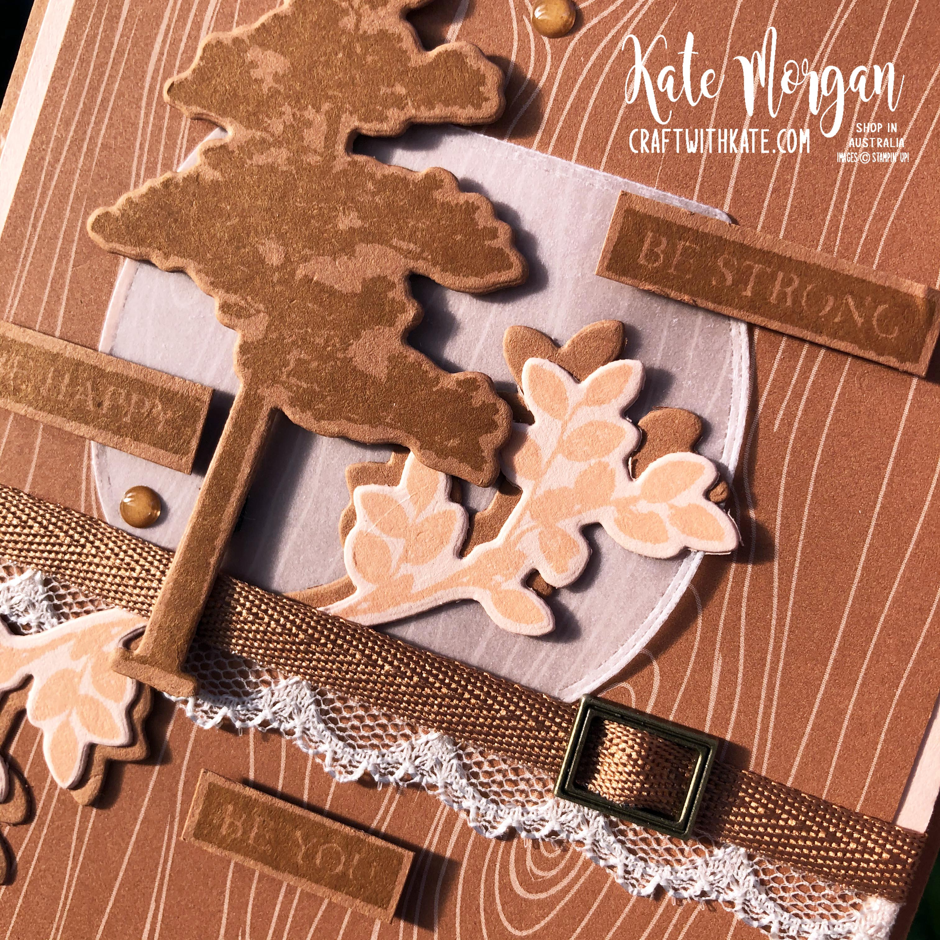 Nature's Roots by Stampin Up with Cinnamon Cider by Kate Morgan Australia 2020 s