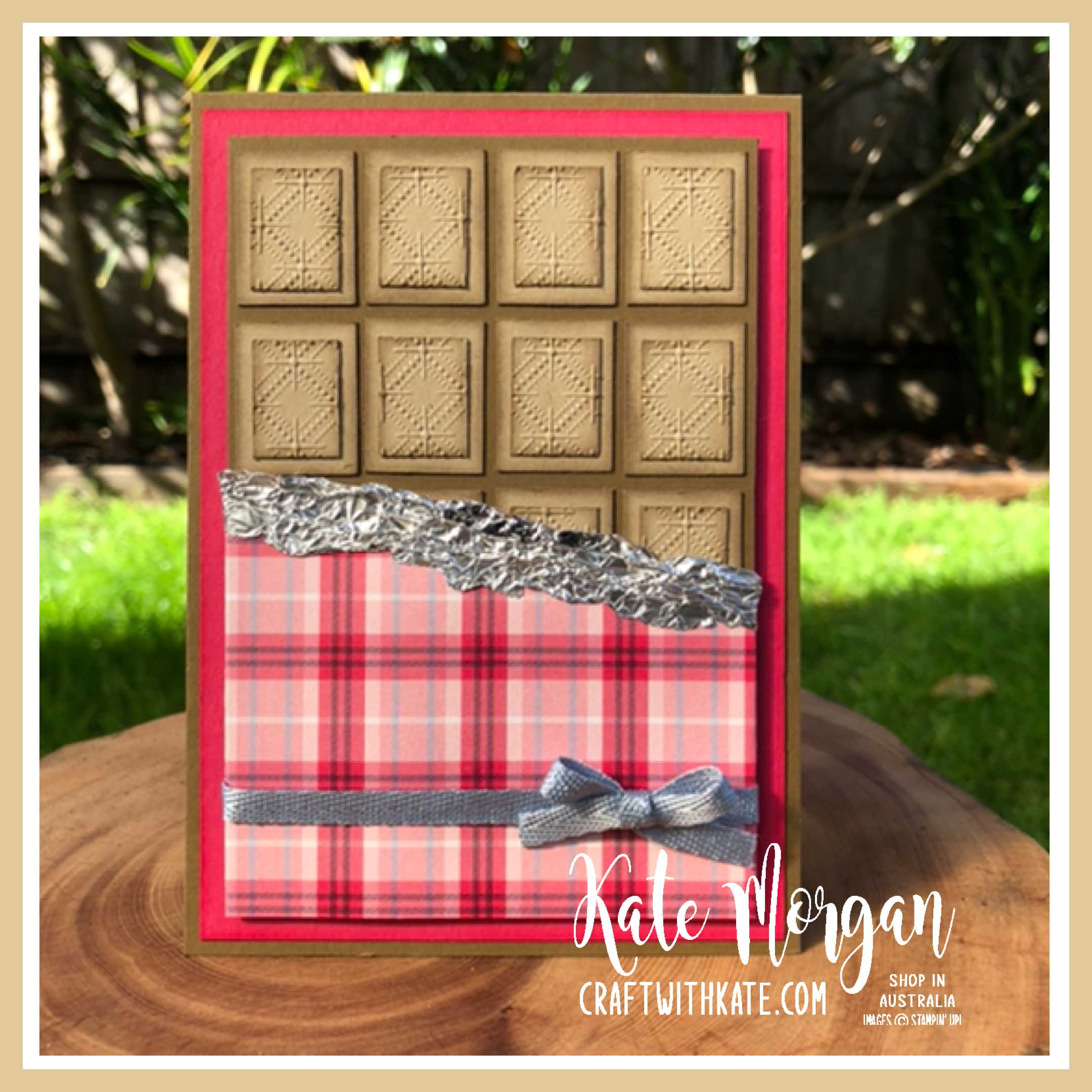 Nothing's Better Than Chocolate card by Kate Morgan, Stampin Up Australia 2020 Colour Creations Showcase Crumb Cake