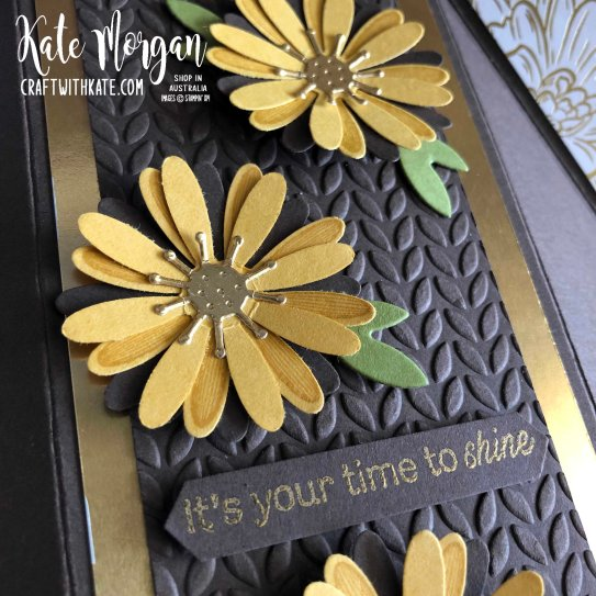 Double Fan Fold card using Stampin Ups Ornate Garden & Daisy Lane by Kate Morgan, Australia 2020