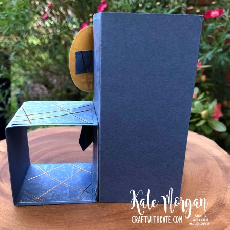 Masculine Cube Card using Stampin Ups World of Good Suite by Kate Morgan Australia 2020 hinges