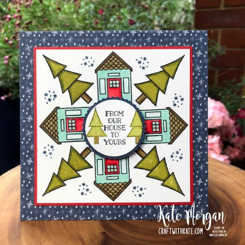 Stampin Up Coming Home & Trimming the Town DSP by Kate Morgan, Australia 2020